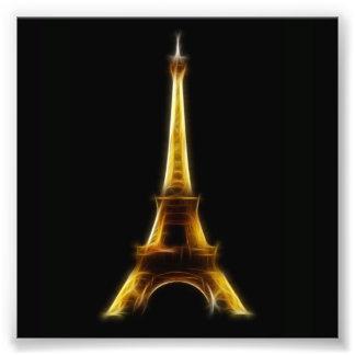 Eiffel Tower in Paris France Art Photo