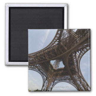 Eiffel Tower in Paris, low angle view Square Magnet