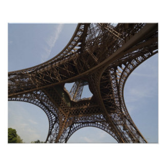 Eiffel Tower in Paris, low angle view Poster