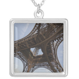 Eiffel Tower in Paris, low angle view Silver Plated Necklace