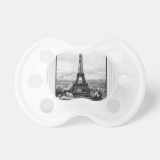 Eiffel Tower In Paris Striped Vintage Baby Pacifiers