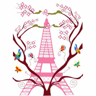 Eiffel tower in spring photo sculpture