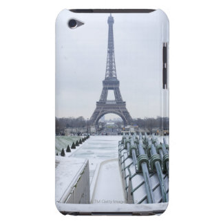 Eiffel tower in winter 3 iPod touch case