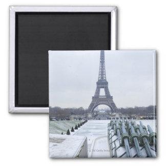 Eiffel tower in winter 3 refrigerator magnet