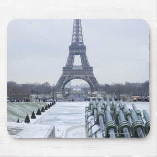 Eiffel tower in winter 3 mouse mat