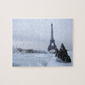 Eiffel tower in winter jigsaw puzzle