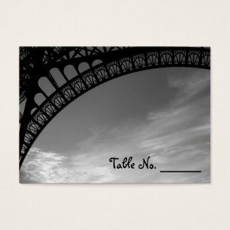 Eiffel Tower Individual Wedding Table Number Cards