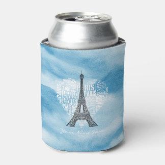 Eiffel Tower & Inscriptions Paris in Heart