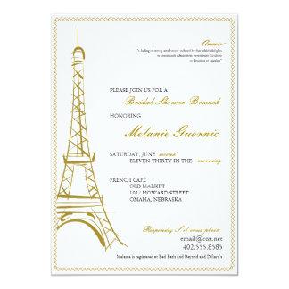 """Eiffel Tower Invite 5"""" X 7"""" Invitation Card"""