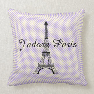 Eiffel tower J'adore Paris Cushion