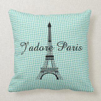 Eiffel tower J'adore Paris Cushion