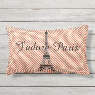 Eiffel tower J'adore Paris Lumbar Cushion