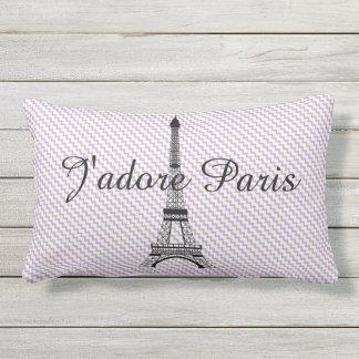 Eiffel tower J'adore Paris Outdoor Cushion
