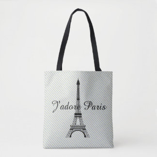 Eiffel tower J'adore Paris Tote Bag