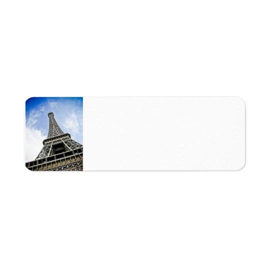 Eiffel Tower Label