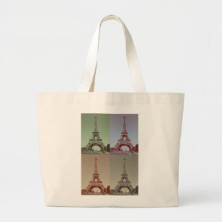 Eiffel Tower Large Tote Bag