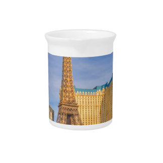 Eiffel Tower Las Vegas Paris Limousine Nevada Beverage Pitcher