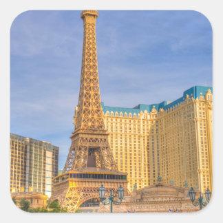 Eiffel Tower Las Vegas Paris Limousine Nevada Square Sticker