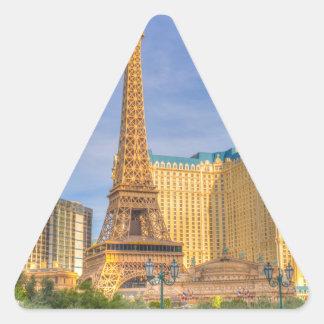Eiffel Tower Las Vegas Paris Limousine Nevada Triangle Sticker