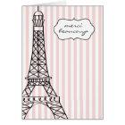 Eiffel Tower Merci Beaucoup Card