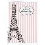 Eiffel Tower Merci Beaucoup Note Card