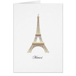 Eiffel Tower Merci note card