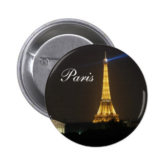 Eiffel Tower night Button