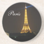 Eiffel Tower night Drink Coasters