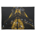 Eiffel Tower Nightime Yellow Lights - Paris,France Placemat