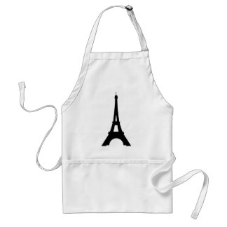 Eiffel Tower On Deep Yellow Background Standard Apron