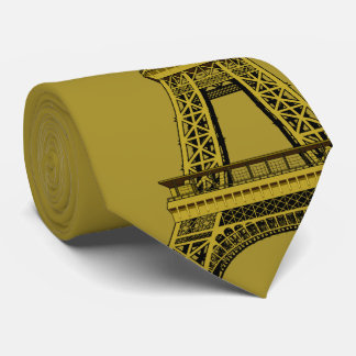 Eiffel Tower on Gold Tie