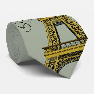 Eiffel Tower on Gray Tie