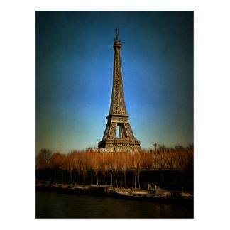 Eiffel Tower painting, Paris Postcard
