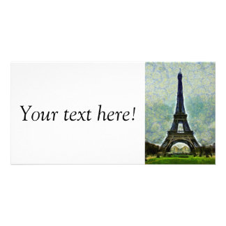Eiffel tower painting photo cards