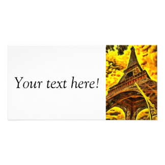 Eiffel tower painting picture card