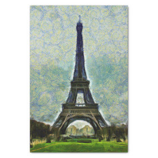 Eiffel tower painting tissue paper