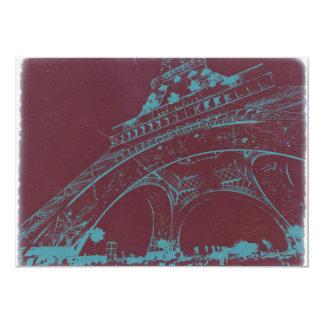 Eiffel Tower Paris 13 Cm X 18 Cm Invitation Card