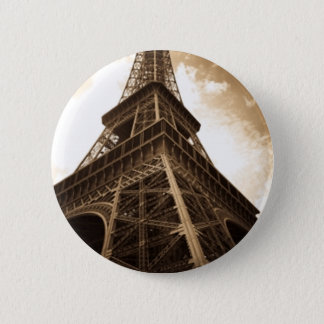 Eiffel tower Paris 6 Cm Round Badge