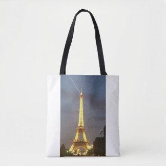 Eiffel Tower Paris at Night Tote Bag