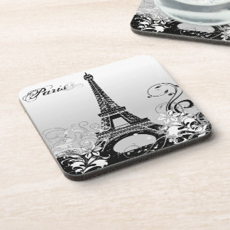 Eiffel Tower Paris (B/W) Coasters (set of 6)