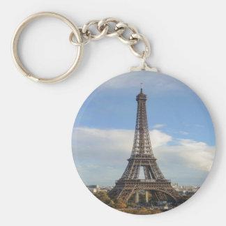 Eiffel tower Paris Basic Round Button Key Ring