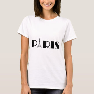 Eiffel Tower Paris Black & White T-Shirt