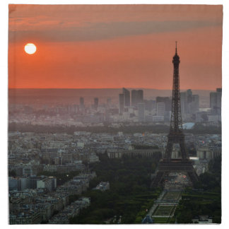 Eiffel Tower, Paris by Sunset Napkin