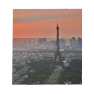 Eiffel Tower, Paris by Sunset Notepad