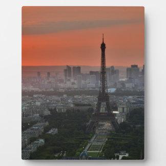 Eiffel Tower, Paris by Sunset Plaque