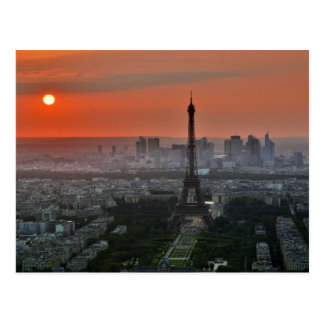 Eiffel Tower, Paris by Sunset Postcard