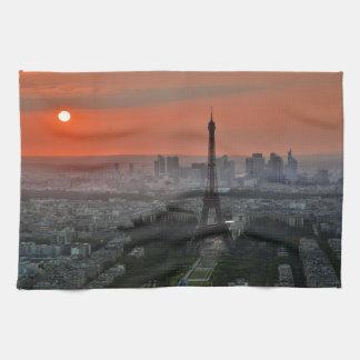 Eiffel Tower, Paris by Sunset Tea Towel