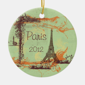 Eiffel Tower Paris Christmas Ornament