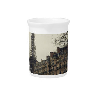 Eiffel Tower Paris City Building Architecture Beverage Pitcher
