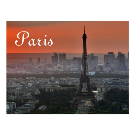 Eiffel Tower Paris Europe Travel Postcard